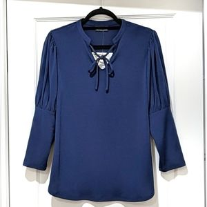 Front-Tie Bishop Sleeve Top
